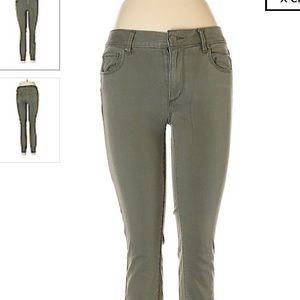 Loft Modern Skinny Green Jeans